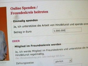 Millionenspende