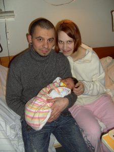 Geschafft, aber glücklich: Nadine, Joe und Celine