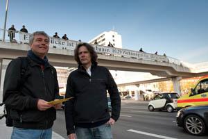 Stephan Nagel von der Diakonie und Stephan Karrenbauer von Hinz&Kunzt fordern mehr Wohnungen für Obdachlose