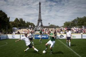 Das deutsche Team beim Spiel gegen Irland