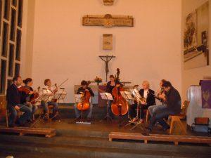 Das Amaryllis-Quartett bei der Probe in der St. Georgskirche am 7.12.2011