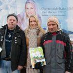 Hinz&Künztler Thomas und Torsten mit Judith Rakers.