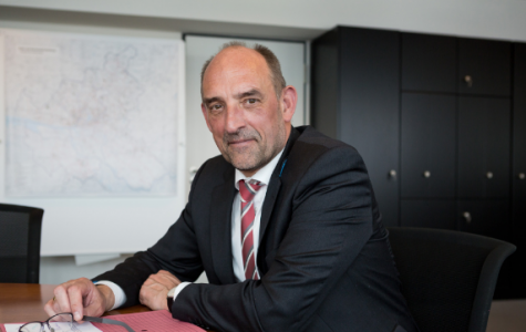 """""""Wir sind freundschaftlich-konsequent."""" Sozialsenator Detlef Scheele (SPD). Foto: Cornelius M. Braun"""