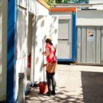 Dank einer Spende auch im Sommer göffnet: die Wohncontainer für Frauen an der HAW. Foto: Hannah Schuh