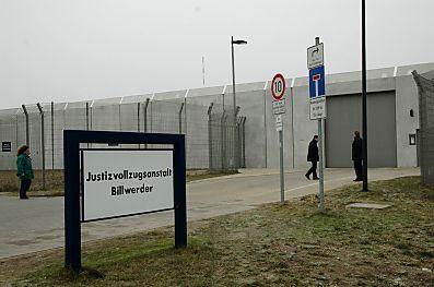 Der Eingang des Hochsicherheitsgefängnisses Billwerder. Foto: bildarchiv-hamburg.de