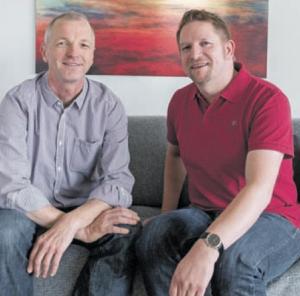Bei ihnen läuft es rund: Michael Korf (links) und Stephan Aust genießen den ersten SOMMER im neuen Zuhause.