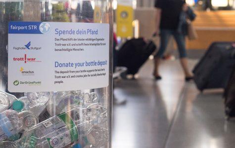 Vorbild Stuttgart: Hier gibt es schon länger ein Projekt fr FLASCHENSAMMLER  am Flughafen.