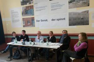 Münzviertel-Initiativen bei der Pressekonferenz am 29. Oktober.