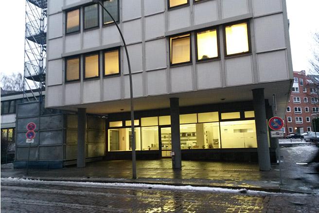 Nahe des Michel in der Neustadt befindet sich in diesem Jahr auch ein Gebäude des Winternotprogramms.