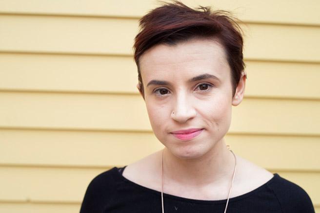 Redet KLARTEXT: Die britische Autorin und Feministin Laurie Penny (29).