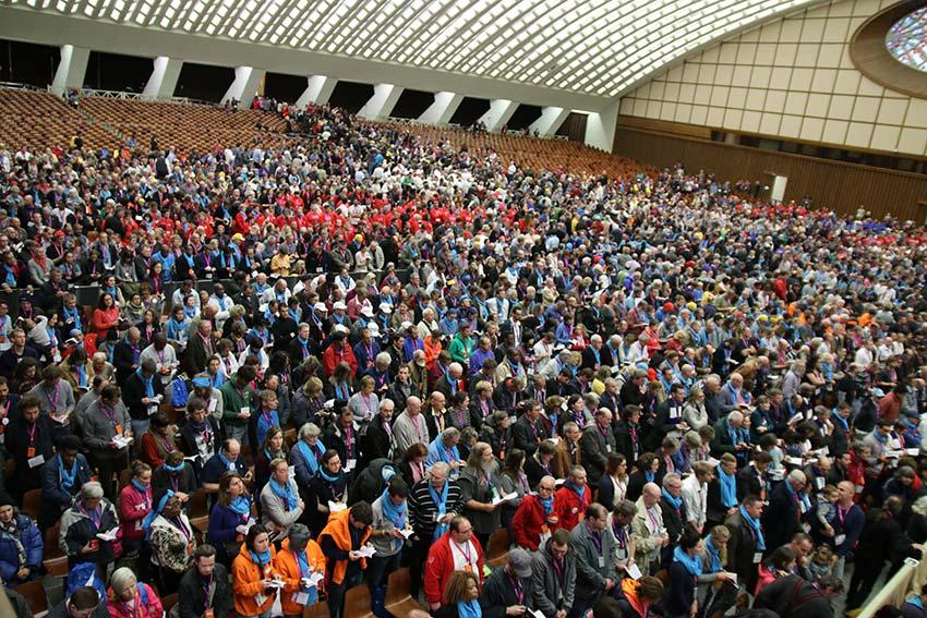 Mehr als 3500 Menschen kamen zur Audienz von Franziskus. Foto: BELA